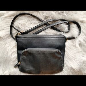 Tignanello Leather Crossbody Travel Purse Black